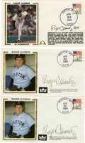 Autographs:Letters, Roger Clemens Signed First Day Covers Lot of 3. All postmarked1986, this trio of first day covers focuses on the onset of...