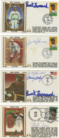Autographs:Letters, Negro League Hall of Famers Signed First Day Covers Lot of 4. Eachof the four first day covers that we present here has be...