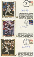 Autographs:Letters, Don Mattingly Signed First Day Covers Lot of 3. Donnie Baseball'sbig league career has recently been transported to the We...
