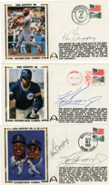 Autographs:Letters, Ken Griffey, Jr. and Sr. Signed First Day Covers Lot of 3. When KenGriffey, Jr. hit the majors on April 3, 1989, it marked...