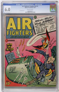 Golden Age (1938-1955):War, Air Fighters Comics V2#1 (Hillman Fall, 1943) CGC FN 6.0 Off-whitepages....
