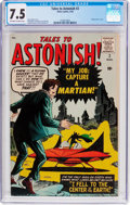 Silver Age (1956-1969):Science Fiction, Tales to Astonish #2 (Marvel, 1959) CGC VF- 7.5 Off-white to whitepages....