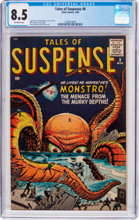 Tales of Suspense #8 (Marvel, 1960) CGC VF+ 8.5 Off-white pages