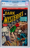 Golden Age (1938-1955):Horror, Dark Mysteries #19 (Master Publications, 1954) CGC VF+ 8.5Off-white to white pages....
