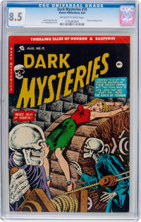 Dark Mysteries #19 (Master Publications, 1954) CGC VF+ 8.5 Off-white to white pages