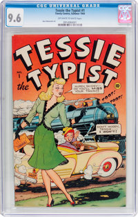 Tessie the Typist #1 (Timely, 1944) CGC NM+ 9.6 Off-white to white pages