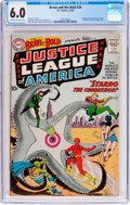 Silver Age (1956-1969):Superhero, The Brave and the Bold #28 Justice League of America (DC, 1960) CGCFN 6.0 Cream to light tan pages....