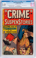 Golden Age (1938-1955):Crime, Crime SuspenStories #22 (EC, 1954) CGC GD/VG 3.0 Off-white to white pages....