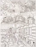 Original Comic Art:Panel Pages, Geof Darrow Hard Boiled #2 Story Page 37 Original Art (DarkHorse, 1990)....