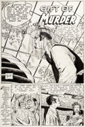 """Original Comic Art:Complete Story, Alex Toth and Mike Peppe Seduction of the Innocent 3-D #1 Complete 2-Page Story """"Gift of Murder"""" Original Art (Ecl..."""