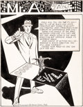 Original Comic Art:Splash Pages, Steve Ditko Eon Fanzine #3 Mr. A Splash Page Illustration Original Art (Robert Gustaveson, 1969)....