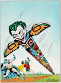 Original Comic Art:Covers, Dick Sprang Batman #66 Cover Recreation Original Art(1985)....