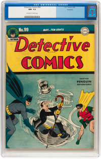 Detective Comics #99 Rockford pedigree (DC, 1945) CGC NM- 9.2 Off-white to white pages