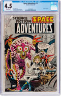 Golden Age (1938-1955):Science Fiction, Space Adventures #12 (Charlton, 1954) CGC VG+ 4.5 Off-white pages....