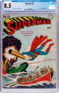 Golden Age (1938-1955):Superhero, Superman #20 (DC, 1943) CGC VF+ 8.5 Off-white to white pages....