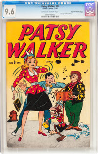 Patsy Walker #8 Mile High pedigree (Atlas, 1946) CGC NM+ 9.6 Off-white to white pages