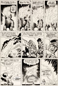 Original Comic Art:Panel Pages, Jack Kirby and Sol Brodsky Fantastic Four #3 Story Page 12 Original Art (Marvel, 1962). ...
