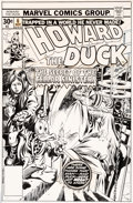 Original Comic Art:Covers, Gene Colan and Tom Palmer Howard the Duck #6 Cover Original Art (Marvel, 1976)....
