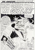 Original Comic Art:Splash Pages, Mike Esposito (as Mickey Demeo) Amazing Spider-Man #39Splash Page 1 Recreation Green Goblin Original Art (undated...