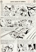 Original Comic Art:Panel Pages, Mike Sekowsky and Bernard Sachs Justice League of America#16 Page 21 Original Art (DC, 1962)....
