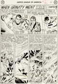 Original Comic Art:Panel Pages, Mike Sekowsky and Bernard Sachs Justice League of America #5Page 12 Original Art (DC, 1961). ...