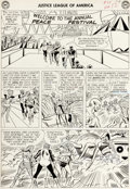 Original Comic Art:Panel Pages, Mike Sekowsky and Bernard Sachs Justice League of America#25 Page 10 Original Art (DC, 1964). ...