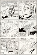 Original Comic Art:Panel Pages, Jack Kirby and Vince Colletta Fantastic Four #42 Story Page3 Human Torch and Invisible Girl Original Art (Marvel,...