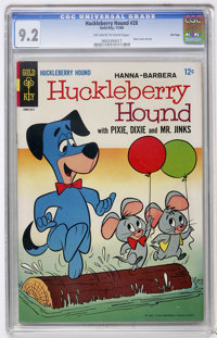 Huckleberry Hound #28 File Copy (Gold Key, 1966) CGC NM- 9.2 Off-white to white pages