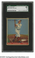 """Baseball Cards:Singles (1930-1939), 1933 Goudey Eddie Collins #42 SGC VG 40. Strong Hall of Fame cardfrom this historic """"Big Three"""" issue...."""