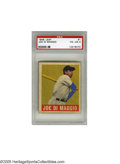 Baseball Cards:Singles (1940-1949), 1948 Leaf Joe DiMaggio #1 PSA VG-EX 4. One of the most coveted cards in the hobby, appealing to star card collectors, first...