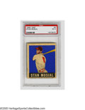 Baseball Cards:Singles (1940-1949), 1948 Leaf Stan Musial #4 PSA EX 5. A big swing from The Man on this strong example from this fan favorite set....