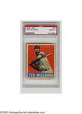 Baseball Cards:Singles (1940-1949), 1948 Leaf Ted Williams #78 PSA Good 2. A classic image of the greatest hitter that ever lived. Wax staining on verso accou...