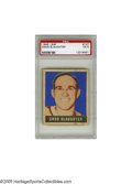 Baseball Cards:Singles (1940-1949), 1948 Leaf Enos Slaughter #127 PSA EX 5. The Hall of Famer smiles from the front of this graphically bold issue. Terrific e...