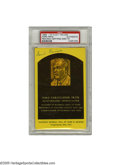 Autographs:Post Cards, Ford Frick Signed Gold Hall of Fame Plaque. A strong blue inksignature from the Hall of Fame baseball executive. Slabbed ...