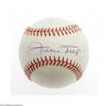 Autographs:Baseballs, Willie Mays Single Signed Baseball. ONL (White) baseball offers10/10 blue ink sweet spot signature from the Giants superst...