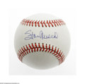 Autographs:Baseballs, Stan Musial Single Signed Baseball. ONL (Giamatti) baseball offers10/10 blue ink sweet spot signature from the St.Louis Ca...
