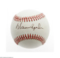 Autographs:Baseballs, Warren Spahn Single Signed Baseball. ONL (Giamatti) baseball offers10/10 sweet spot signature from this Hall of Fame hurle...