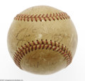 Autographs:Baseballs, 1948 American League All-Star Team Signed Baseball. Officialbaseball from the mid-season classic with faded autographs of s...