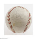 Autographs:Baseballs, 1968 New York Yankees Team Signed Baseball. Spalding Pro League baseball offers various autographs in Good to Very Good con...