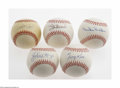 Autographs:Baseballs, Hall Of Famers And Pete Rose Single Signed Baseballs Lot of 5.Sweet spot signatures on official league balls from Hall of F... (5Items)