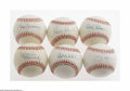 Autographs:Baseballs, Hall Of Fame Pitchers Single Signed Baseballs Lot of 6. Sixindividually signed sweet spot official baseballs of pitching gr...(6 Items)
