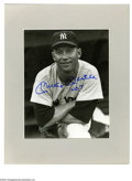 "Autographs:Photos, Mickey Mantle Signed Photograph. Fantastic 8x10"" black and whiteportrait offers perfect ""Mickey Mantle No. 7"" in blue shar..."