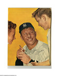 Autographs:Photos, Mickey Mantle Signed Magazine Photograph. Classic image of the Mickis signed in 10/10 ink. Full page color image measures ...