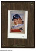 "Autographs:Photos, Mickey Mantle Signed Photograph. Perfect blue sharpie signaturefinds a home on an 5x7"" color photograph. Photo is affixed..."