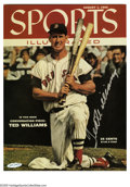 "Autographs:Photos, Ted Williams Signed UDA Photograph. Gorgeous image is a glossy8x10"" reproduction of a 1955 Sports Illustrated cover, and o..."