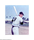"Autographs:Photos, Ted Williams Signed 16X20 Photograph. Spectacular color 16x20""image is signed in perfect blue sharpie. Professionally matt..."