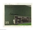 Baseball Collectibles:Others, Ted Williams Signed Lithograph. Fine image of The Splendid Splinterposing in front of the Green Monster is signed by Willi...