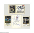 Autographs:Others, Los Angeles Dodgers Autographed Cachets and Card Lot of 4. Strongink signatures from the City of Angels includes individua...