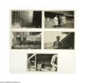 """Baseball Collectibles:Photos, 1920 World Series Photographs Lot of 14. Snapshot-sized (3.5x5.5"""") images capture action on the field and in the area surro..."""