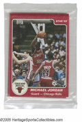 Basketball Cards:Lots, 1984-85 Star Co. Chicago Bulls Team Set. Factory-bagged set is inperfect condition. Jordan's true rookie!...